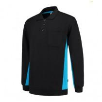 PROB - Tricorp Polosweater Bicolor zw/turq 402002