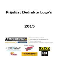 Bedrukte logo's 2015